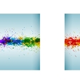 Bright watercolor stains Paint splashes vector image