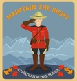 Canadian royal police vector image vector image