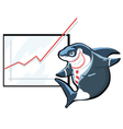 cartoon shark vector image vector image