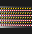 caution lines isolated warning tapes vector image
