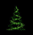 christmas tree card background green christmas vector image vector image