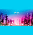 city night skyline vector image vector image