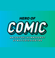 comics hero style font design alphabet letters vector image vector image