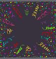 confetti serpentine dark background vector image vector image