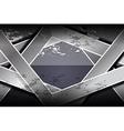 dark geometric grunge textures background vector image