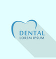 dental abstract logo icon flat style vector image vector image
