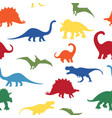 dino silhouettes vector image vector image