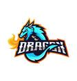 dragon mascot logo vector image