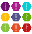 dropper icons set 9 vector image