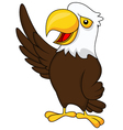 Eagle cartoon waving vector | Price: 3 Credits (USD $3)