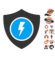 electric guard icon with valentine bonus vector image vector image