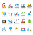 Electricity and Energy source icons vector image vector image