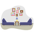 flat with a sofas vector image