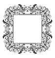 floral decorative filigree frame for cards or vector image vector image