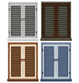 four window frames in different colors vector image vector image