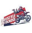 freestyle motocross design vector image vector image