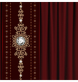 Gold jewelry on drape vector image vector image