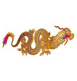 golden japanese dragon vector image vector image