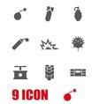 grey bomb icon set vector image vector image