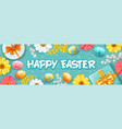 happy easter greeting vector image