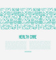 health care concept with thin line icons vector image vector image