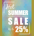 hot summer sale over polygonal background vector image vector image