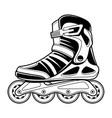 inline roller skate line art vector image vector image