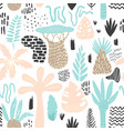 jungle tropical seamless pattern in childish style vector image vector image