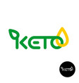 keto logo ketogenic diet product symbol line vector image vector image