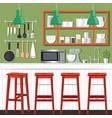 kitchen room design vector image vector image