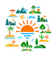 landscapes concept flat icons vector image vector image