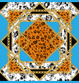 leopard seamless tile vector image vector image