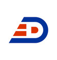letter d fast express logo icon vector image