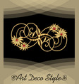 luxury art deco filigree brooch with floral motif vector image vector image