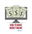 Make money online - design for internet site vector image