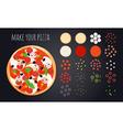 Make Pizza Ingredients Set vector image vector image