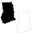 map ghana isolated black on vector image vector image