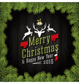 Merry Christmas And Happy New Year 2016 vector image vector image
