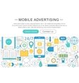 modern line flat Mobile advertising vector image