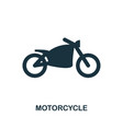 motorcycle icon in flat style icon design vector image vector image
