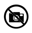 No photography sign vector image vector image