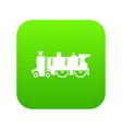 old steam locomotive icon green vector image vector image
