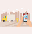 online delivery service tracking online tracker vector image vector image