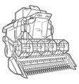 outline combine-harvester vector image