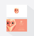 Owl Business Card Template vector image