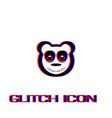 panda icon flat vector image vector image