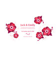 paper cut style of bright flowers vector image vector image