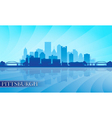 Pittsburgh city skyline silhouette background vector image vector image
