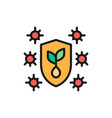 plant protection against pests flat color vector image