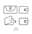 pouch wallet icon vector image